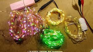 Cutting Micro Led String Lights Fixing Low Voltage Copper Wire Led Strings