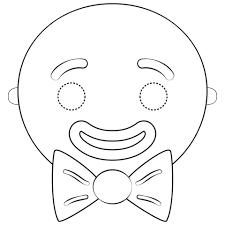 Disegno Di Maschera Da Uomo Di Pan Di Zenzero Da Colorare Disegni