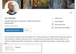 linkedin resume format how to upload your resume to linkedin step by step pics