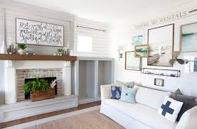 The Lettered Cottage Living Room Stikwood faced built in cabinety and fireplace 600x394