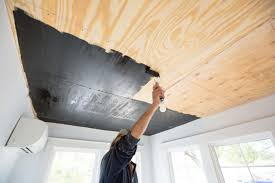 Plywood Plank Ceiling How To Install A Reclaimed Wood Ceiling Treatment How Tos Diy