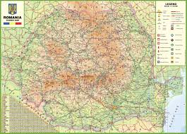 large detailed tourist map of romania