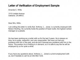 Ideas Of Business Letter Employment Verification Sample Employment
