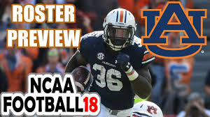 Ncaa Football 18 Auburn 2017 Roster Preview First Look