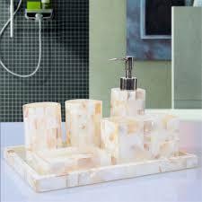 Decorative Bathroom Accessories Sets Art Decorative Pearl Shell Bathroom Accessory Set Soap Dish 19