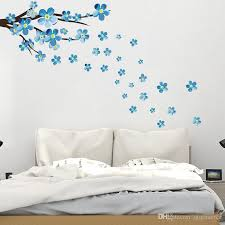 new style blue plum wall sticker art