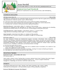 Day Camp Counselor Resume Example Job Description Objective Examples