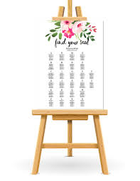 Seating Chart For Small Wedding Free Wedding Seating Chart Printable