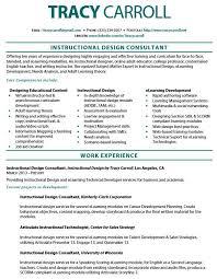 Instructional Designer Resume Classy Instructional Designer Resume Template Tracy Carrolls Current Resume