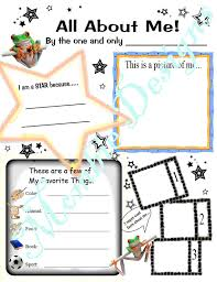 Small Picture Coloring Page pdf Instant Download Kid Questionnaire About Me
