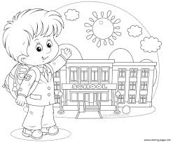 Small Picture happy student school fist day Coloring pages Printable