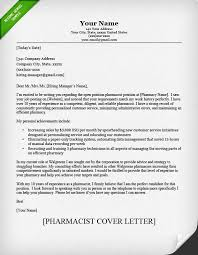 Employment Letter Example Best Pharmacist Cover Letter Sample Resume Genius