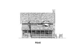 craftsman home house plan stone cliff 45246 rear exterior