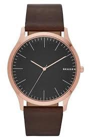 skagen watches nordstrom skagen jorn leather strap watch 41mm