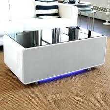 refrigerator coffee table living tech living room table designs coffee table include refrigerated drawer speakers beer