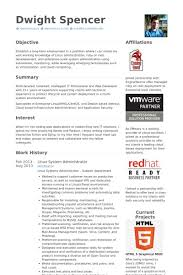 Linux Administration Sample Resume Alid Info