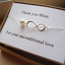 Thank You Mom Infinity Bracelet Mother Of Bride Or Groom