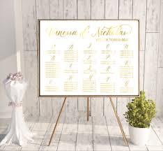 Wedding Alphabetical Seating Chart Details About Alphabetical Seating Chart Gold Seating Chart Guest Seating Weddings