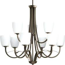 chandeliers clearance merge collection 9 light antique bronze chandelier with opal glass shade clearance lighting home