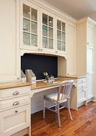 home office in kitchen. built in kitchen desk home office