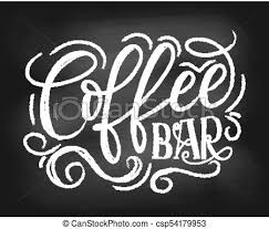 coffee bar clipart. Wonderful Coffee Coffee Bar Chalkboard Logo Hand Drawn Chalk Lettering With Grunge  Elements Retro Coffee Shop Label Vector Illustration On Bar Clipart A