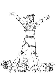 Cheerleader Coloring Pages Geraldabreuinfo