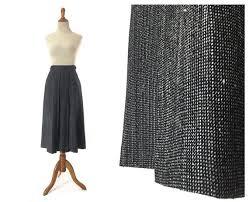 Charcoal Grey Pleated Skirt Vintage Womens Midi Marcy McFadden   Etsy