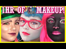 viperine gorgon 1 hour of monster high doll makeup tutorials costume or cosplay kittiesmama lets learn makeup