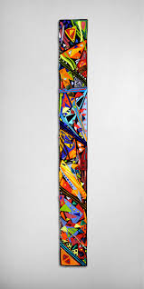 Artful Home Mardi Gras Wall Panel By Helen Rudy Art Glass Wall Sculpture