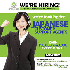 Open Access Bpo Is In Need Of Japanese Call Center Agents For Its