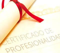 Resultado de imagen de certificado de profesionalidad
