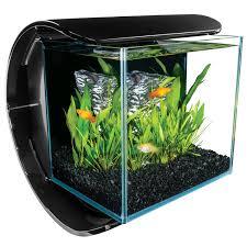 Marineland Aquarium Light Marineland 3 Gallon Silhouette Glass Led Aquarium Kit
