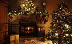 Living Room Christmas Christmas Living Room Night Hang White Socks Light Brown Chair