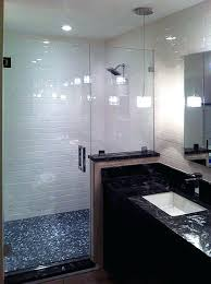 bathroom glass wall panels inline shower door and half wall panel bathroom glass wall panels cost