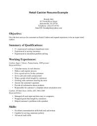 Resume Objective For Retail Awesome 9823 Cashier Objective Blackdgfitnessco