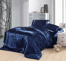 dark blue bedding set silk satin super king size queen double fitted bed sheets duvet cover quilt bedspreads doona bedsheet king comforter blue duvet cover