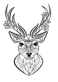 Coloriage Animaux Cerf Mandala Pinterest Coloriage Animaux