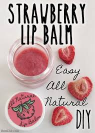 diy sweet strawberry lip balm