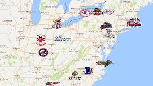 Map Of International League Il Teams Minor League