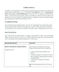 It Sow Template Sow Template For Software Development Cc Site Development Explains