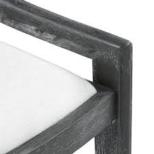 Bungalow 5 Alexa Grey Limed Oak Linen Drop In Cushion Dining Chair