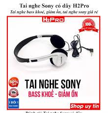 Tai nghe Sony có dây H2Pro bass khoẻ, giảm ồn, tai nghe sony giá rẻ