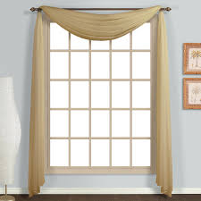 com united curtain monte carlo sheer scarf 59 by 144 inch bronze home kitchen