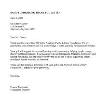 Donor Thank You Letter Sample 13 Donation Thank You Letter Professional Resume