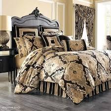 gold king duvet cover set j queen new york bradshaw black bed set black and gold