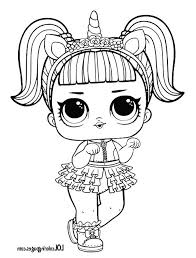 Marvelous Doll Coloring Page Colouring For Amusing Unicorn Lol