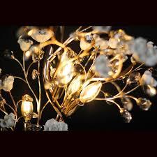 Golden Lipper Lighting Golden Crystal Flower Table Lamp Lamps Goldenlipper