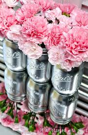 spray painted mason jar centerpieces 10 easy party ideas diy party