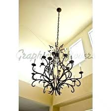 rod iron chandeliers wrought foyer an image of entryway ceiling with a small rustic chande