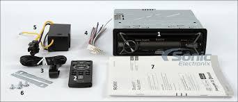 sony mex xbbt hi power siriusxm ready bluetooth car stereo sony mex xb100bt what s in the box